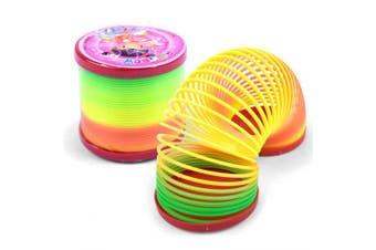 Big Creative Plastic Rainbow Spring Magic Tricks Toy for Kids- Colormix