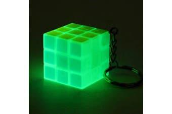 Fluorescent Light Mini Cube Key Chain for Kids- Multi