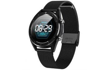 NO.1 DT28 Smart Watch- Black Steel strip