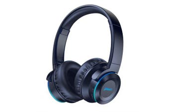 Picun B9 Wireless Bluetooth Headphones with Mic Headphones Foldable Headset for TV PC Cellphone- Blue China