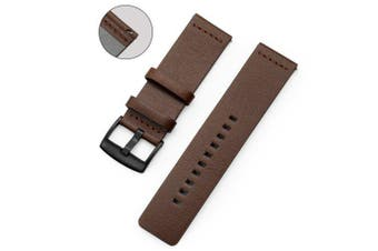 Genuine Leather Watch Band Strap For Xiaomi Huami Amazfit Stratos 2 Pace- Brown