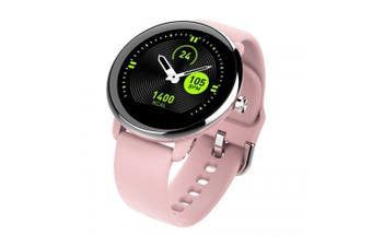 Tourya T5 Smart Watch Tough Battery Bracelet Full Touch Color Men Women Sport Call Round Band- pink China