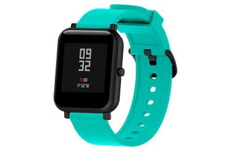 20mm Silicone Watch Band Wrist Band for AMAZFIT Bip Youth- Turquoise