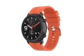 Sports Silicone Wrist Strap for Xiaomi Huami Amazfit GTR 47MM- Orange