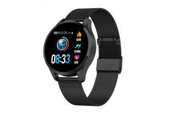 Q9 Smart Watch Waterproof Message Call Reminder Heart Rate monitor Fashion Fitness Tracker- Black China
