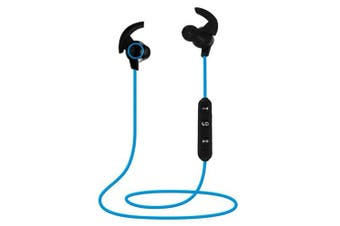 Wireless Bluetooth V4.1 Headphones Sweatproof Sport Gym Headset Stereo With Mic Bluetooth Earphone- Blue China