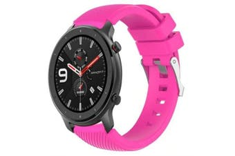 Sport Silicone Watch Band Wrist Strap for Huami Amazfit GTR 47MM- Deep Pink