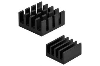 2pcs Aluminum Heatsink Cooler Cooling Kit for Raspberry Pi 3/Pi 2/ Pi Model B+- Black
