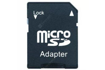TF to SD Memory Card Set Adapter- Black