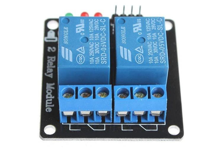 2 Channel 5V SongLe Relay Shield Module DIY for Arduino- Blue