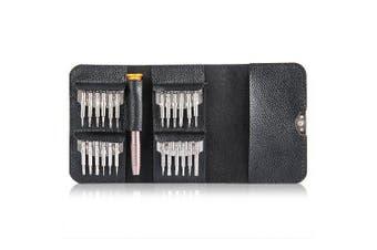 Gocomma Screwdriver Wallet Kit Repair Tools 25 in 1- Silver 1pc