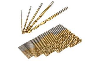 50PCS HSS Titanium Coated Twist Drill Bits High Speed Steel Drill Bit Set- Bronze