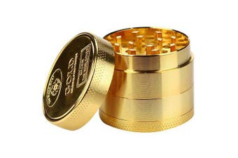 40mm 4 Layers Zinc Alloy Gold Tobacco Grinder- Gold