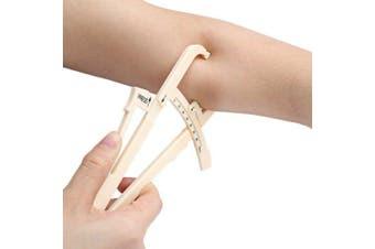Accurate Body Fat Caliper Private Fitness Measurement Tool- Antique White
