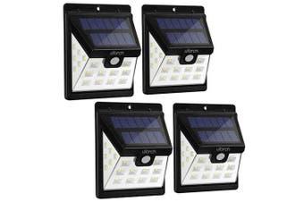 Utorch HJ001 Solar Wall Light 4pcs- Black 4PCS