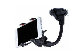 Minismile Universal 360 Degree Rotation Car Suction Cup Stand Holder Mount- Black