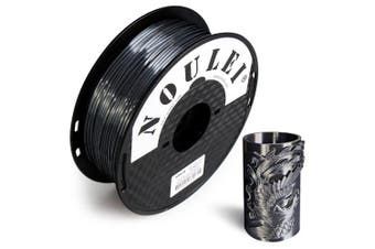 Noulei 3D Printer PLA Filament Silk 1.75mm 1kg Spool Dimensional Accuracy +/- 0.02mm for Creality Ender-3 / Alfawise Anycubic / All FDM 3D Printer- Black