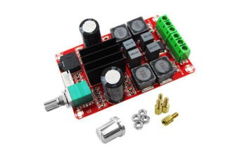 2*50W High End Digital Power Amplifier Board DC24V TPA3116D2 Dual Channel Stereo- Red