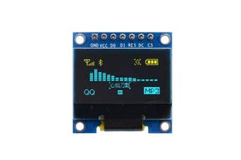 0.96 Inch Yellow and Blue I2c IIC Serial 128X64 Oled LCD LED Module for Arduino- Blueberry Blue