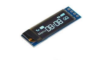 1pcs I2C OLED 0.91 InchDisplay Module Screen Driver DC 3.3V-5V for Arduino- Blue