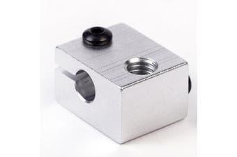 FLSUN 5PCS Aluminum Heater Block M6 Specialized for 3D Printer Extruder 3 D Printer Accessory- Silver