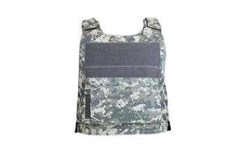 Men Tactical Vest Down Body Armor Plate Airsoft Carrier Vest CB Camo Woodland Hunting Combat CS Vest- ACU camouflage
