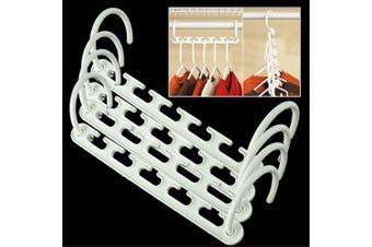4pcs Pack Multifunction Magic Hanger Wonder Clothes Hanger Wonder Hanger- White