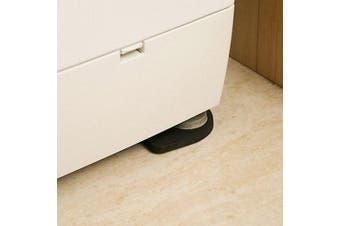 4pcs Washing Machine Shockproof Pad Anti-slip Mute Cotton EVA Foam Table Mat- Black