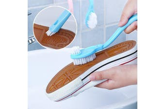 Long Handle Shoe Brush Cleaner Washing Toilet Lavabo Pot Dishes Home Cleaning Toos Sneakers Shoe- Blue
