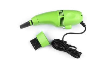 Mini USB Vacuum Computers Laptop Keyboard Cleaner Brush- Green