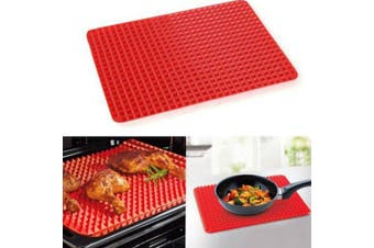 RedBakeware Pan Nonstick SiliconeMoulds Cooking Mat Oven Baking Tray Sheet Kitchen Tools- Red