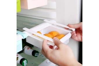 Creative Refrigerator Storage Box Fresh Layer Storage Rack Pull-out Drawer Casket Sort Fridge Drawer Kitchen Supplies- White