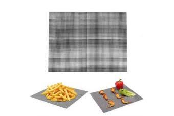 Barbecue Mat BBQ Non-Stick Grill Mesh Teflon- Black 30x40cm