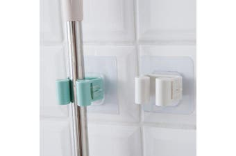 Punch-free Mop Hanging Storage Hook for Bathroom- Baby Blue
