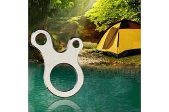 Outdoor EDC Equipment 3-hole Stainless Steel Multi-purpose Fast Knot Rope Buckle Tool- Silver