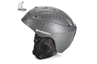 Moon Ski Helmet Single Board Double Snowboard Protective Gear Equipment- Carbon Gray M