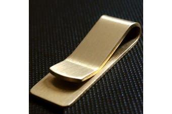 EDC Tool Portable Mini Metal Wallet Ticket Holder- Gold