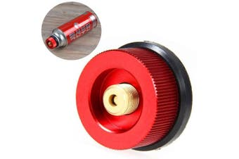 Outdoor Camping Stove Conversion Head Adapter Gas Furnace Converter Connector- Red