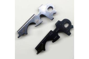 8-in-1 Key Clip Outdoor Multi-function Key Combination Tool EDC Tool Screwdriver Survival Bottle Opener 1pc- Black