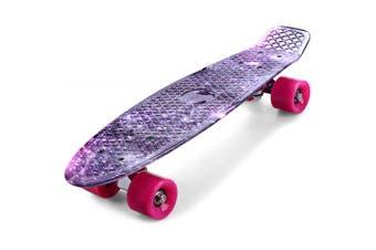 CL - 95 22 inch Purple Starry Sky Pattern Retro Mini Skateboard- Colormix