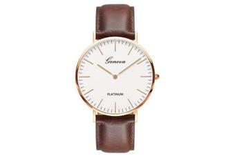 Fashion Quartz Men Business Wrist Watch- Brown
