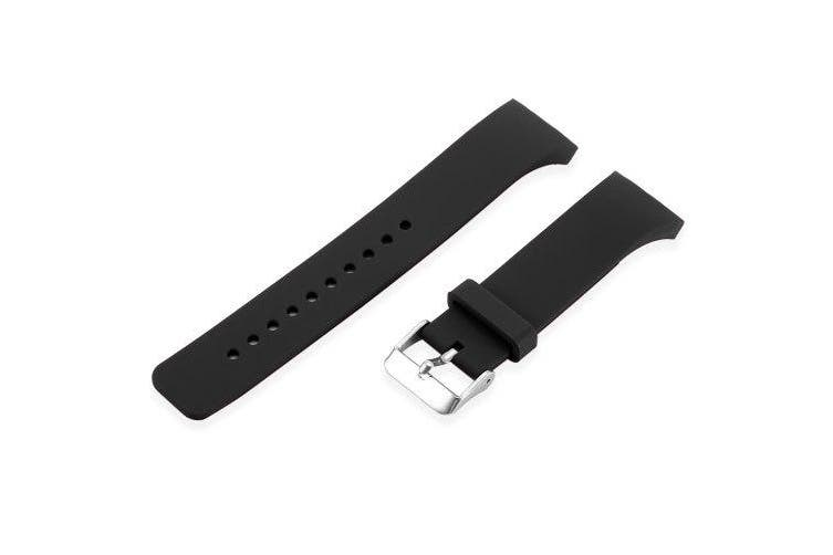 Silicone Band Strap Wristband for SAMSUNG Gear S2- Black