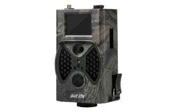 Outlife HC - 300M Digital Hunting Trail Camera 12 MP 1080P 40pcs Infra LEDs 940nm Night Vision- Army Green