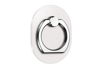 Oval 360 Degree Mobile Finger Ring Holder Mobile Phone Stand- Silver