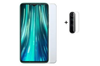 Glass Screen Protector + Lens Protective Film for Redmi Note 8 Pro- Transparent