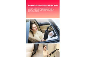 Car Vacuum Cleaner Handheld 12V 120W 4000paPortable Mini 4.5m Power Cord- Black China