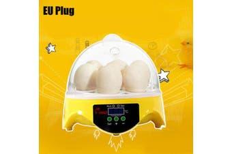 HHD Automatic 7 Eggs Incubator Poultry Hatcher- Yellow EU Plug