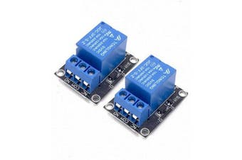 2pcs 5v Relay Module for Arduino ARM PIC AVR MCU 5V Indicator Light LED 1 Channe- Blue