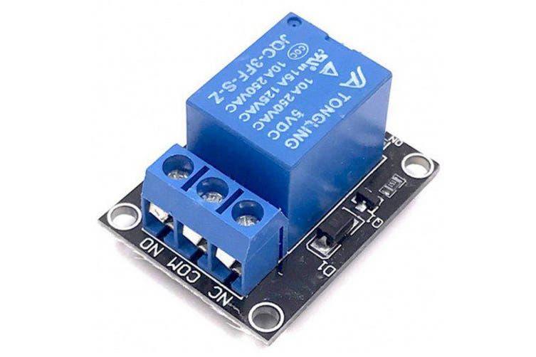 2pcs 5v Relay Module for Arduino ARM PIC AVR MCU 5V Indicator Light LED 1 Channe- Blue