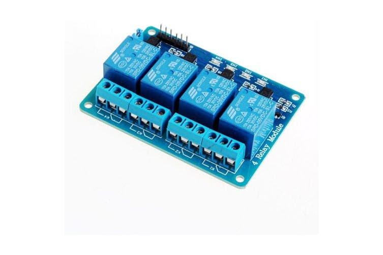 5V 4 Channel Relay Module For Arduino PIC ARM DSP AVR MSP430 Blue- Blue